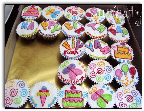 Cupcake Selamat Harijadi Safiyyah Nuha