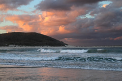 Fingal Bay (south*swell) Tags: ocean sunset sea sky cloud beach water wave australia nsw portstephens fingalbay justclouds thesuperbmasterpiece passiondclic