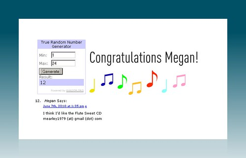 Winner of the kids music CD