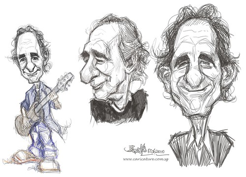 sketch study of Harry Shearer