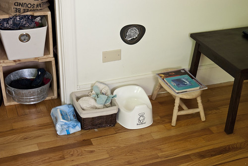 potty station in bedroom