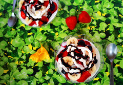 ricetta con foto Coppe di gelato con fragole nutella e banane