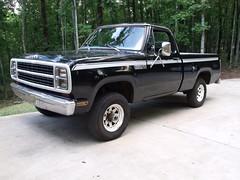 001 (stevenbr549) Tags: black truck wagon bed power 4x4 4wd short dodge 1980 w100