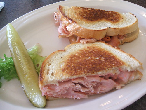 Smoked pork loin sandwich and pickle