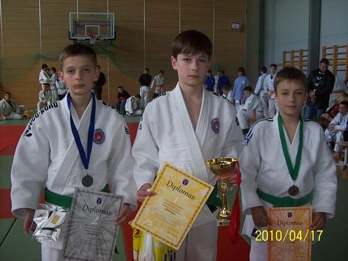 Iš kairės Gintas Žebrauskas, Aivaras Kasteckas ir Lukas Lingys