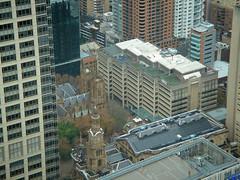 Sydney-May 2010_034 (mgrenner57) Tags: church geotagged skyscrapers sydney aerialview australia standrews 2010 sydneytower oceania sydneytownhall