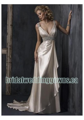 satin-sexy-v-neck-with-epire-slim-sheath-skirt-and-chapel-train-informal-wedding-dress-wm-0245