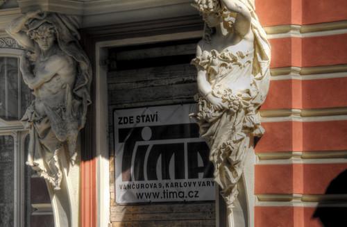 Statues. Karlovy vary. Estatuas