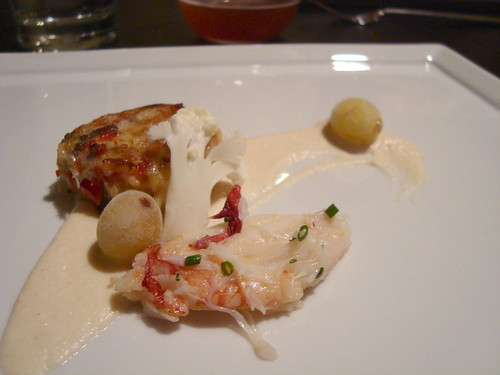 Crab Two Ways, Cauliflower, Frozen Grapes, Tarragon