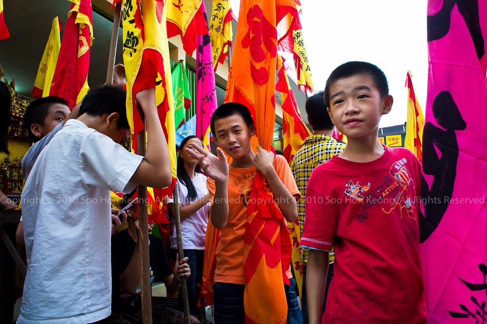 Flag-Bearer @ Nine Emperor Gods Festival, Ampang, Malaysia