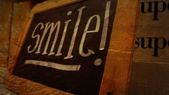 Smile (LostLikeAlice28) Tags: texture smile text chalkboard