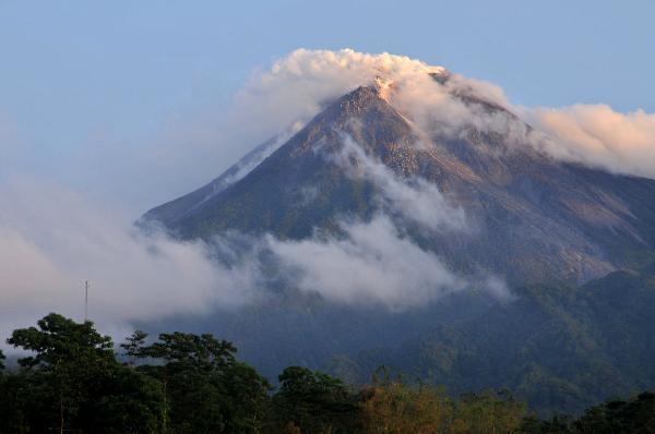 Merapi erupted