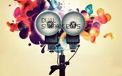 Dual Sunpak 120J's Desktop Wallpaper (isayx3) Tags: art 50mm design nikon graphic f14 flash bracket dual nikkor studios vector d3 parabolic onelight sunpak 14d 120j strobist plainjoe isayx3 plainjoephotoblogcom