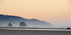 Cannon Beach in the morning (rondal) Tags: world ocean california travel usa tourism beach rock oregon coast nikon highway pacific dam sigma haystack cannon hoover nikkor 1020 70200 2470 d90