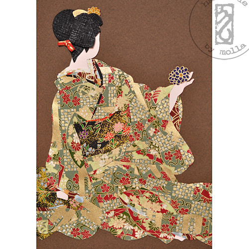 Geiko with kiku kanzashi3