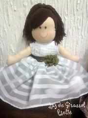 Daminha de Honra (Luz de Girassol Ateliê) Tags: de lembrança para pano artesanato quarto casamento criança enfeites boneca em decoração tecido honra daminha infaltis