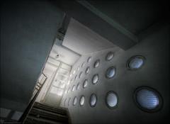 bulaje (5y12u3k) Tags: abandoned stairs neglected poland wideangle staircase porthole hdr decayed urbex sanitarium gdynia 14mm photomatix samyang 5y12u3k