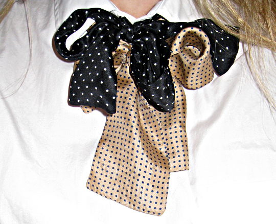 vintage silk bow ties+polka dotted women's silk bow ties