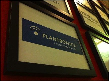 Plantronics on the Wall