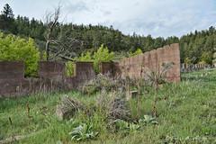 Residential Garage Foundation (RootsRunDeep) Tags: decay ruin concrete garage 1918 1924 1926 sunrise wyoming mine iron copper coloradofueliron abandoned