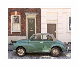 1950's Morris Minor Convertible, East London, England.