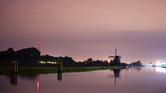 De Hommel by Night (l.cutolo) Tags: tlp water clouds netherlands say boats reflections nightspot dehommel night worldtrekker nightshorter flickr windmill molen aperture dusk lights a7ii pinksky sonyfe2470mmf40zaoss