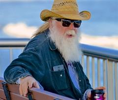 Bearded Dude Near Pier (hectic skeptic) Tags: ventura california pier promenade dude beard mark a morgan