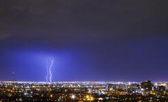 Lightning over El Paso (Davor Desancic) Tags: elpaso tom lea upper park tomleaupperpark texas lightning over el paso storm rain