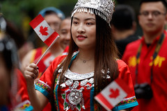 canada_Day_003_1 (Besisika) Tags: canada day celebration parade fete 150th anniversary bokeh montreal quebec 2017 fille damme lady woman street photography portrait environment rainy flag red white happy celebrating emmotion