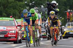 Ausreißergruppe Tour de France 2. Etappe Düsseldorf - Lüttich am 02.07.2017