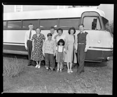 91.47.2066 Large family by bus_positive (MassMu Collections & Archives) Tags: transporation bus busterminal buses vehicle massillon museum ohio