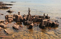Sculptures (Cindy's Here) Tags: sculptures rocks lakesuperior grandmarais minnesota usa canon