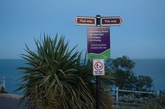 Directions (Bahi P) Tags: folkestone theleas dusk sea signpost kent