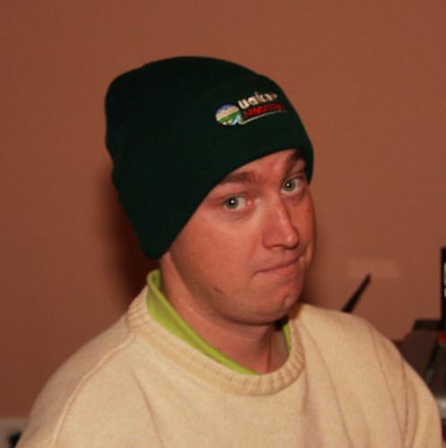 Erik gets a Quaker Meadows hat