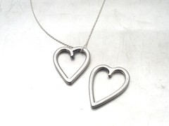 Stainless Heart pendants, made as gifts for my mom and mother-in-law