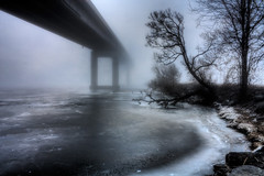 Fogged In (The Oracle) Tags: bridge fog belleville hdr surrealphotography torontophotographer fantasyphotography torontophotography 100commentgroup yourwonderland