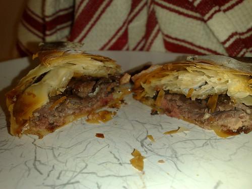 Beef wellington canapés