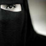 Samira, veiled woman from Salalah, Oman
