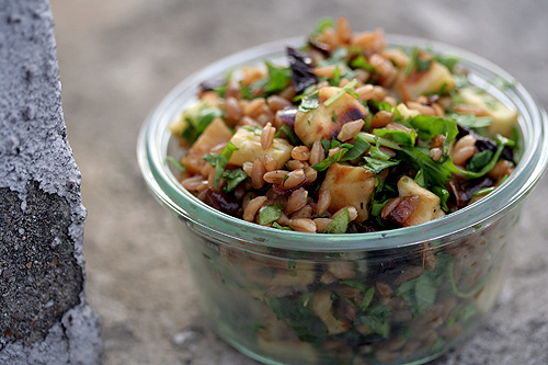 roasted root vegetable & wheat berry salad