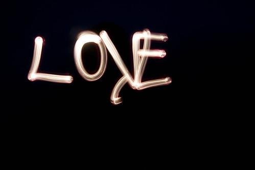 light painting love.