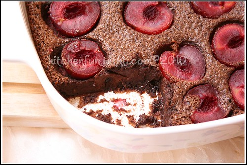 plum & Chocolate Clafoutis 3