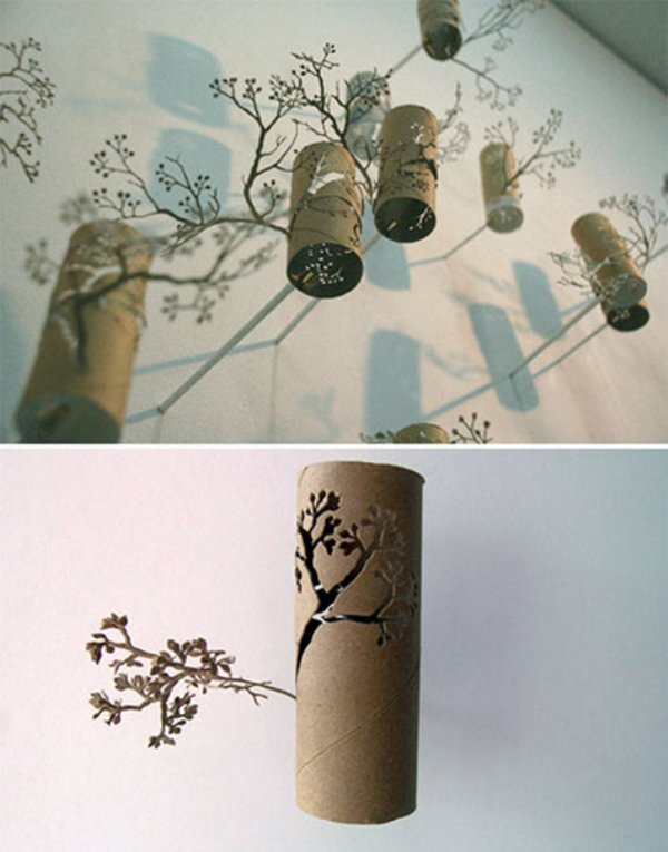 Toilet paper roll wall art by Yuken Teruya