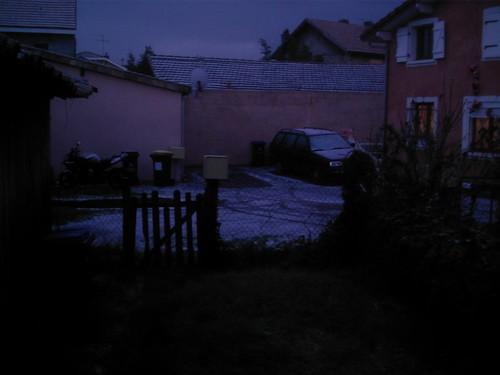 Neige sur Biganos - 6 janvier 2010