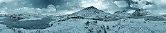 Freezeorama (c@rljones) Tags: winter panorama snow cold ice monochrome wales landscape frozen blackwhite cymru lakes f16 snowdon huge snowdonia toned 16mm tinted 120s gwynedd outstanding eryri 360degrees rhydddu sigma1020mm superwide iso250 llynydywarchen flickrdiamond theunforgettablepictures nikond300 18images freezorama