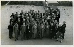 Group photo - visit to Zlin 1936