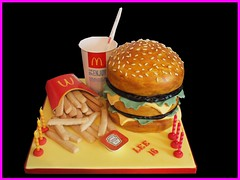 Big Mac and Fries Cake (crazycakes.eu ) Tags: birthday food cookies cake dinner jan 26 chocolate burger chips mcdonalds birthdaycake fries bigmac 16th 16thbirthday burgercake jan26th kidscake boyscake crazycakes mcdonaldscake
