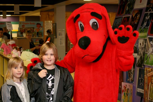 Clifford with Jamie and Cassie