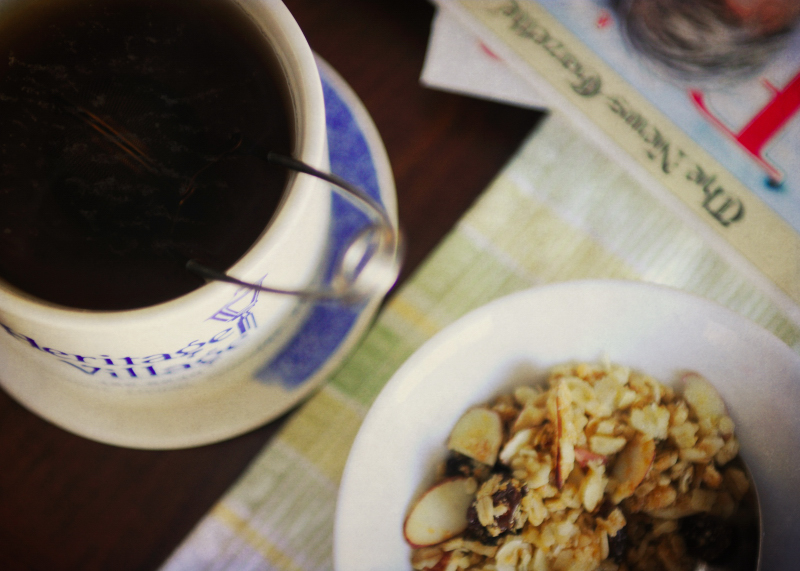 Sunday Morning Tea and Granola