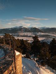 col du calvaire (lolitanie) Tags: leica light sunset snow france lumix woods panasonic promenade neige pyrenees bois coucherdesoleil cerdanya fontromeu cerdagne lolitanie jmluneau lx3 colducalvaire
