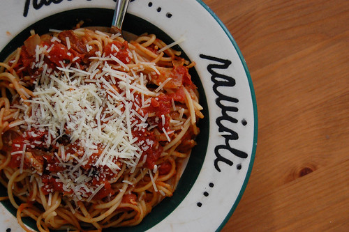Cheese-Gilded Linguine with Smoky Tomatoes